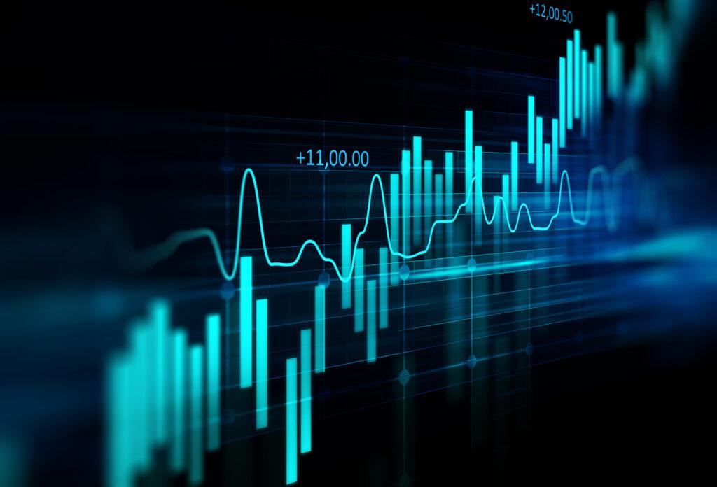 Digital chart of bank pricing